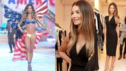 Lily Aldridge Victorias Secret model bouncing Angel shape post baby