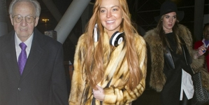 Lindsay Lohan lands in London