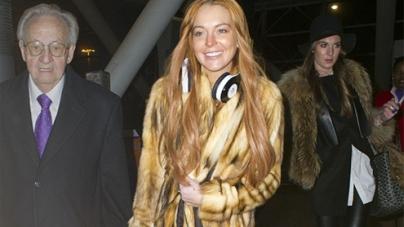 Lindsay Lohan lands in London