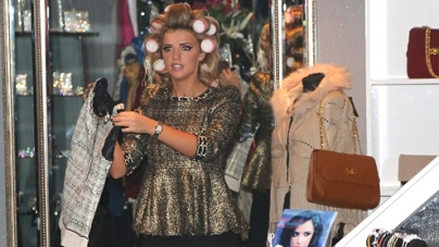 Lucy Mecklenburgh looks like Desperate Scousewife before her boutique opening