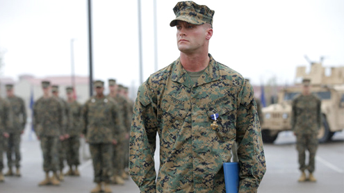 Marine special operations team members honored