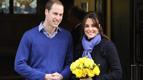 Pregnant Kate leaves hospital after three days smiling with husband William