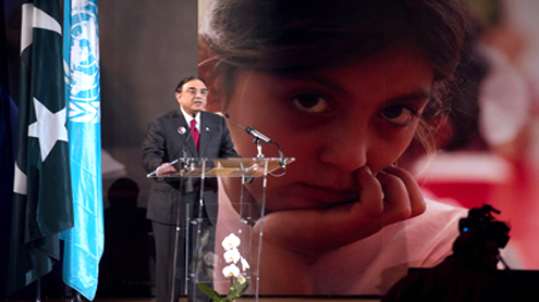 President calls for world alliance for cause of education