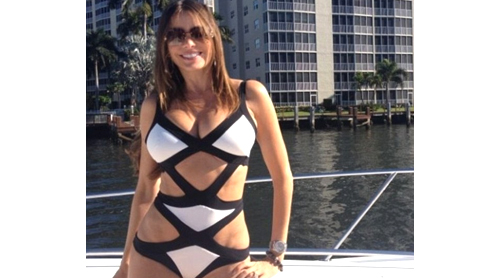 Sofia Vergara shows off her incredible curves in cut-out bathing suit