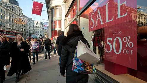 Sales frenzy on Christmas Day