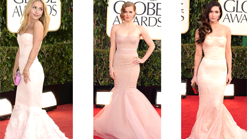 Amy Adams, Hayden Panettiere, And Megan Fox Dazzle In Nude Fishtail Dresses On Golden Globes Red Carpet