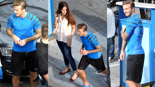 David Beckham Shows His Athletic Pedigree In A Tight Lycra Top