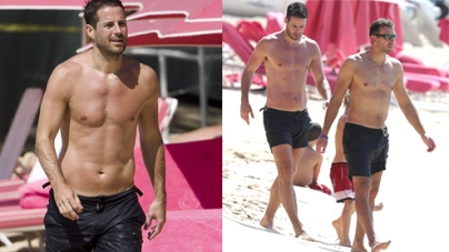 Footballer Jamie Redknapp Spends Family Holiday In Barbados