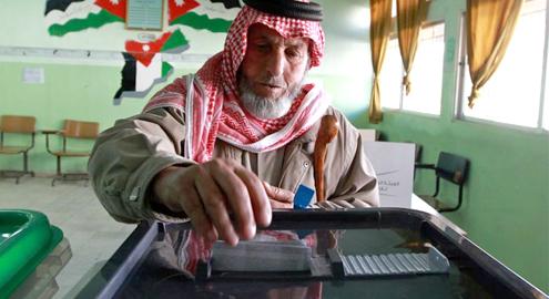 Jordanians vote