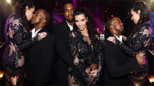 Kim Kardashian Wears Sheer Lace Ensemble To Hide Baby Bump