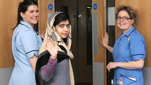 Malala Yousafzai leaves Queen Elizabeth Hospital