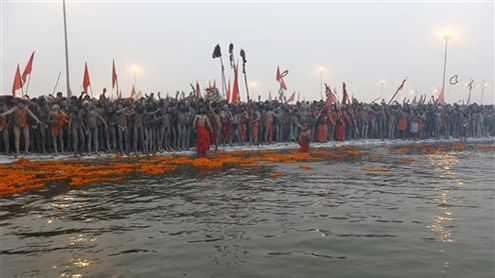 Millions of Hindus Flock to the Ganges
