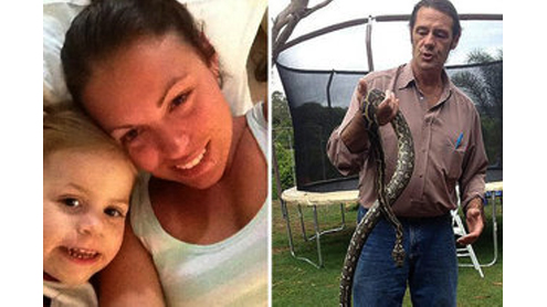 Mom awoken by cat finds python wrapped around 2-year-old daughter