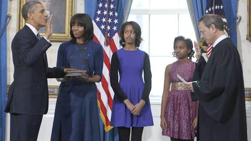 Obama, Biden Sworn In, Day Before Public Ceremony