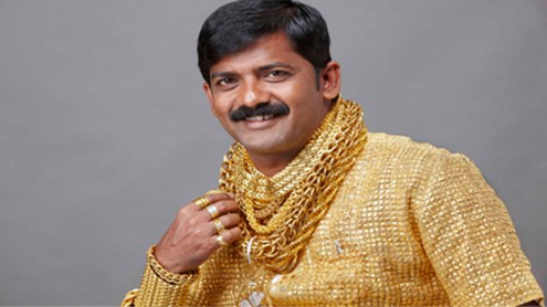 Rich Indian Man Spends £14,000 On Gold Shirt