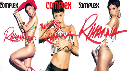 Rihanna bares acres of flesh for Complex magazine