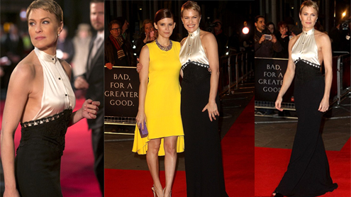 Robin Wright Wears Provocative Backless Dress At House Of Cards Screening In London