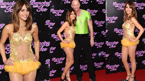 Samia Ghadie Looks Stunning In Golden Ensemble At Dancing On Ice