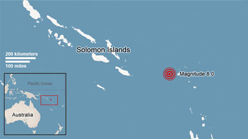 quake strikes in South Pacific