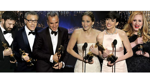 Anne Hathaway, Daniel Day-Lewis, Ben Affleck and Jennifer Lawrence win big at Oscars