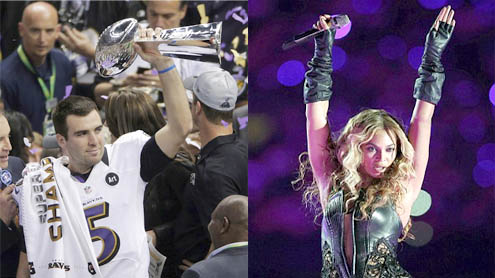 Baltimore Ravens Triumph At The Super Bowl And Beyonce Kicks Off Electrifying Stage Performance