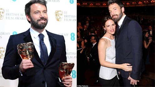 Ben Affleck wins Best Film Best Director Argo at BAFTA Awards 2013