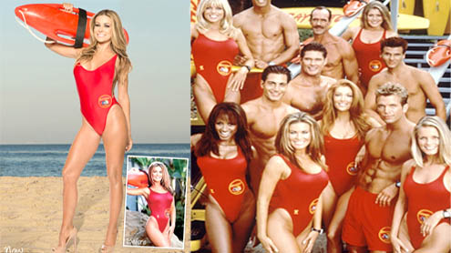 Carmen Electra proves to be Baywatch babe wearing red suit