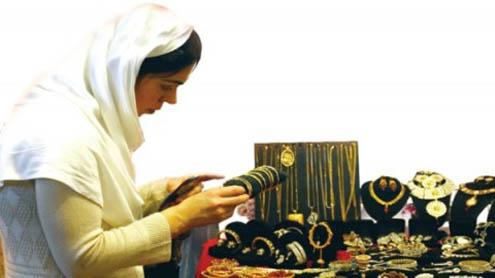 Gleaming jewellery