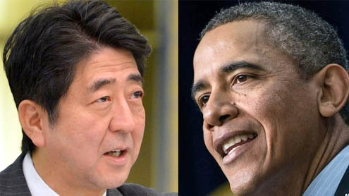 Japan PM Shinzo Abe in US for talks with Obama