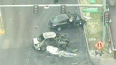 Las Vegas Strip shooting and crash leave three dead