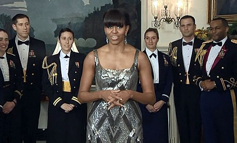 Iranian News Agency Digitally alters Michelle Obama's Oscars Gown