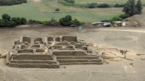 Peru archaeologists find ancient temple in El Paraiso