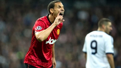 Rio Ferdinand shares the pitch with greatest players