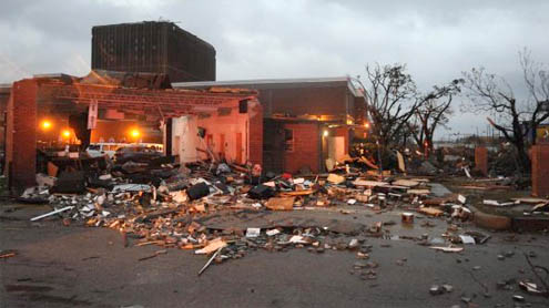 Significant storm damage in Hattiesburg, Miss.