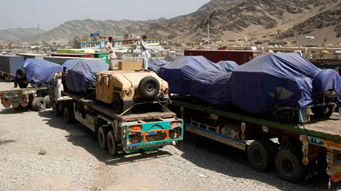 US starts using Pakistan route for Afghan pullout