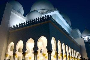 sheikh_zayed mosque evening