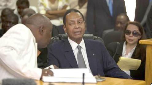 Haiti's ex-ruler 'Baby Doc' Duvalier attends court
