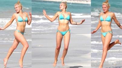 Helen Flanagan proves she's mastered the art of slow mo bikini running on holiday in Dubai