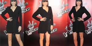Jessie J shows off her slender physique in sleek black dress at BBC show launch