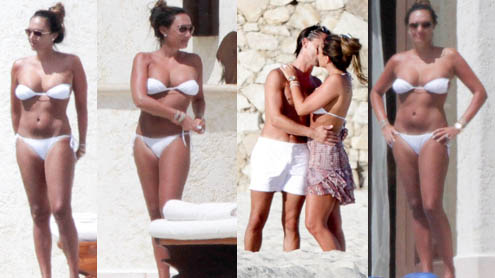 Jet-setter Tamara Ecclestone gets showered with affection by fiancé Jay Rutland