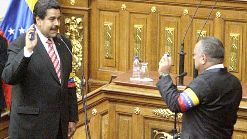 Nicolas Maduro sworn in as Venezuelan president
