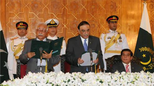 Mir Hazar Khan Khoso takes oath as Caretaker Prime Minister