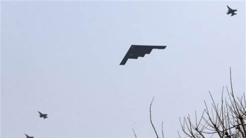 US Stealth Bombers Fly Over Korean Peninsula