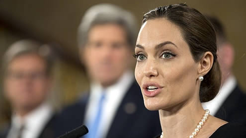 Angelina Jolie G8 Summit