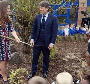 Blooming Duchess Kate plants tree on vandalised estate where TV series was filmed