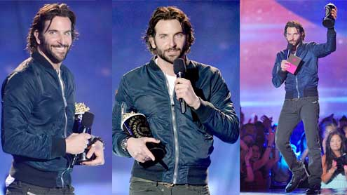 Bradley Cooper takes home Best Male at MTV Movie Awards