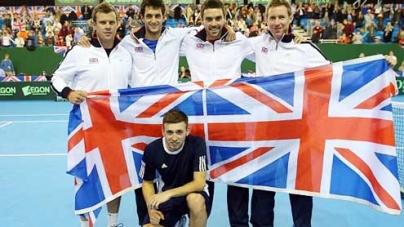 James Ward taken hospital Davis Cup win Russia