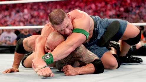 John Cena def. WWE Champion The Rock