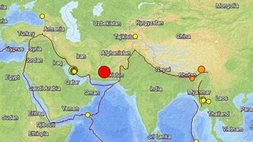 Massive quake kills at least five in Pakistan, 40 in Iran