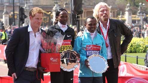 Prince Harry praises London Marathon runners and brave Boston bomb victims